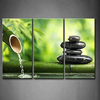 3 Panel Wall Art Green Spa Still Life With Bamboo Fountain And Zen Stone  Painting Pictures Print On Canvas Botanical The Picture For Home Modern  Decoration ...
