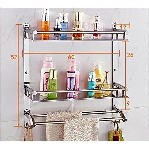 LXSnail Mensola bagno / aspirante in acciaio inox bagno cucina multifunzione scaffalature / rack di stoccaggio ( colore : 6* )