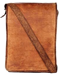 IHandikart Leather Side Bag Cum Messenger For Men & Women Bag Size (L) 10 (H) 13 (W) 4