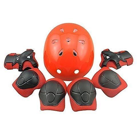Casque Kneepads Genouillère Coudières Protège Poignet Helmet Support de Skateboard