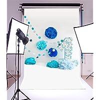 YongFoto 1,5x2,2m Vinilo Fondos Fotograficos Feliz cumpleaños Flores de papel Dtring Dots Romantic 1er cumpleaños Fondos para Fotografia Fiesta Niños Boby Boda Adulto Retrato Personal Estudio Fotográfico Accesorios