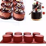 JUSTDOLIFE Schokoladen Form Hitzebeständiges Silikon 8 Hohlräume Kuchen Form Seifenherstellung Form für Zuhause