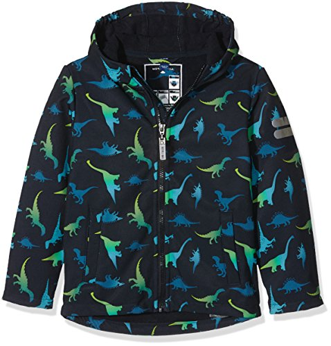 TOM TAILOR Kids dino softshell jacket, Giacca Bambino, Blu (knitted navy), 98 (Taglia Produttore: 92/98)