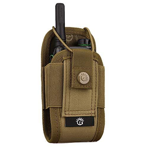 Selighting Taktisch Funkgerät-Tasche Klein Molle Tasche Airsoft für Walkie Talkie (Khaki)