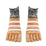 Quaan Men five Finger socks, Fashion Anti Slip cotton Comfortable Tights Soft Cozy light elastic Knit Warm sock Inside job business Solid socks