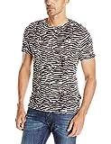 Just Cavalli Men's Zebra Vibe Print Tee Shirt,