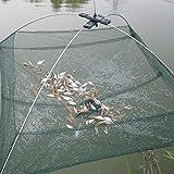 PDHU pliable Pêche Crabe crevettes appâts en maille Piège Parapluie en fonte Dip Net Outil