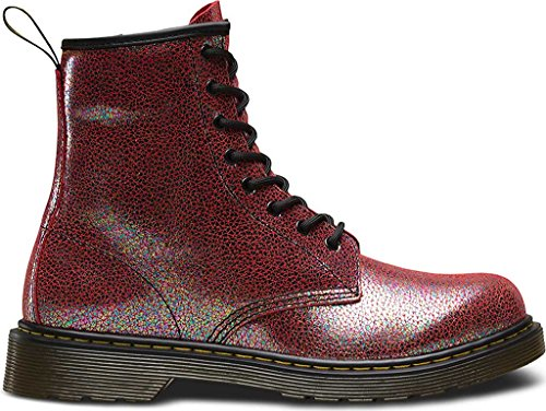 Dr Martens Delaney Y Pink Sparkly Leather Youth Ankle Boots Pink Sparkly