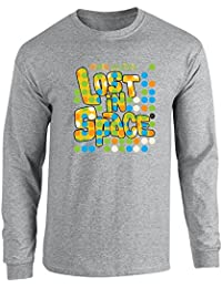Pop Threads Lost In Space Retro Dots Logo Long Sleeve T-Shirt by
