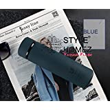 Style Homez Double Wall Vacuum Insulated Stainless Steel LIFE Flask BPA Free Thermos Travel Water Bottle Sipper 480 Ml - Hot And Cold 12 Hours, Cadet Blue Color