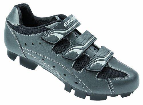 Exustar E-SM354-A, Chaussures de VTT - Argent (Metallic-Titan/Silber/Schwarz) 43 EU
