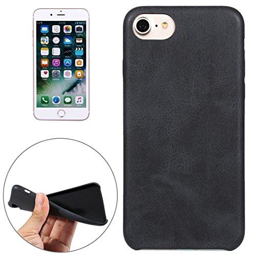 iPhone Case Cover Pour iPhone 7 Crazy Horse Texture Cuir Surface Soft TPU Étui de protection arrière ( Color : Brown ) Black