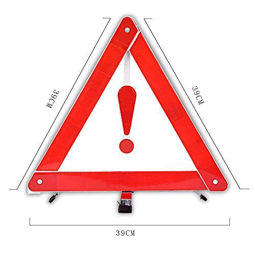 Cornmi-pieghevole-Red-ripartizione-auto-allarme-di-sicurezza-triangolo-di-emergenza-per-auto-furgoni-camion-camion