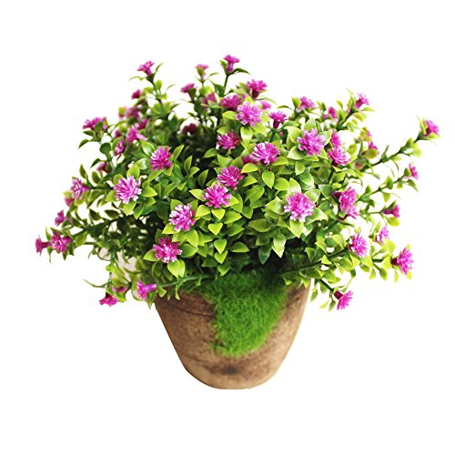 URIJK Künstliche Töpfe Pflanzen Kunstpflanze Kunstblume Simulation Blume Deko Topfpflanze Topf Ornamente für Hochzeit Wohnzimmer Balkon Dekoration