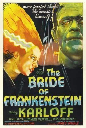 THE BRIDE OF FRANKENSTEIN 1935 - Imported Movie Wall Poster Print - 30CM X 43CM BORIS KARLOFF -