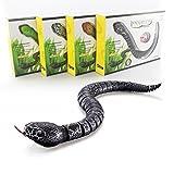 Fernbedienung Snake, Sansee Rattlesnake Tier Trick Terrifying Unfug Spielzeug (Schwarz)