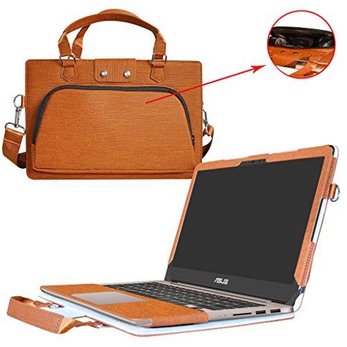 Asus UX310UA UX310UQ Hülle,2 in 1 Spezielles Design eine PU Leder Schutzhülle + portable Laptoptasche für 13.3' Asus Zenbook UX310UA UX310UQ Series Notebook,Braun