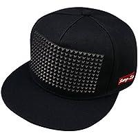 Cappello Berretti da Baseball Amazingdeal365 Berretto Baseball Regolabile  Snapback Sport Hip-Hop Cappelli (Nero 4fbf2db3d519