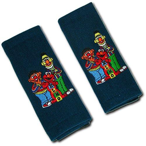 / Gurtschoner mit Motiv für Kinder (Sesamstraße: Elmo, Ernie und Bert) Autokissen, Autogurt Kissen (Elmo Kinder)