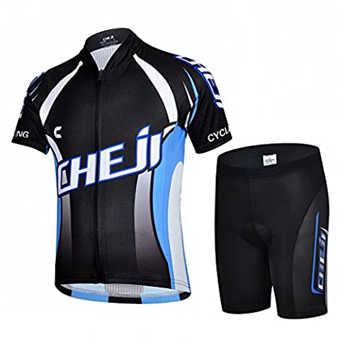 Ateid Children Boys' Girls' Cycling Jersey Set Short Sleeve with 3D Padded Shorts BladeMaster 4-5 Years