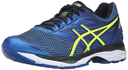 Asics Gel Cumulus 18 Synthétique Chaussure de Course Imperial-Safety Yellow-Black