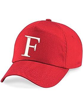 4sold Niños Escuela Bordado Gorra Niños Hat Alphabet A-Z Bringt Rojo