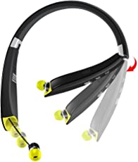 [2017 Newest Design] Foldable Bluetooth Headset, Outtek AVT-990 Wireless Sports Neckband Headphones with Mic Retractable Sweatproof Earbuds for iPhone, Android, Other Bluetooth Enabled Devices