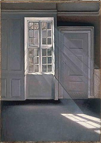 Vilhelm Hammershoi: Dust Motes Dancing in the Sunbeams. Fine Art Print/Poster. Size A3 (42cm x