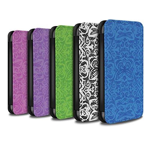 Stuff4 Coque/Etui/Housse Cuir PU Case/Cover pour Apple iPhone 5/5S / Pack (7 pcs) Design / Motif médaillon Collection Pack (7 pcs)