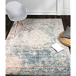 A2Z Rug Vintage Traditional Santorini Collection Blue 240x330 cm - 8x11 ft Area Rugs