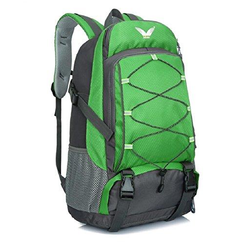 LJ&L Männer und Frauen Universal-Outdoor-Bergsteigen Rucksack, 36-55 Liter großen Kapazität wasserdicht hochwertigen Rucksack, wandernden verstellbaren Rucksack A