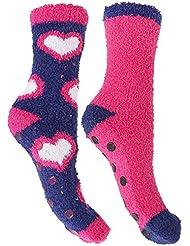 Chaussettes d'hiver antidérapantes (2 paires) - Femme