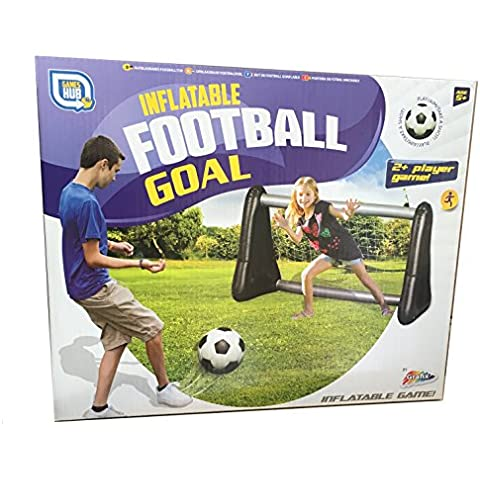 Portería hinchable para fútbol y agua Incluye Red, 107x 75x 50cm