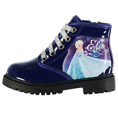 Disney Enfants Lace Fille Chaussures A Lacets Botte Montante Bottines Talon Plat Frozen