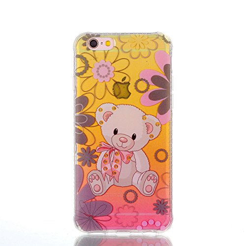 Coque iPhone 6 Plus, Coque iPhone 6S Plus, Étui iPhone 6S Plus, iPhone 6 Plus/iPhone 6S Plus Case, ikasus® iPhone 6 Plus/iPhone 6S Plus Couleur peinte avec Diamant brillant briller intérieur strass Co Ours