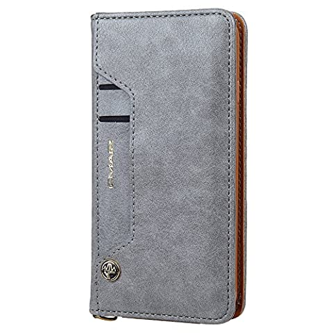 Harrms Cuir housse iphone / galaxy cartes amovibles slots protection