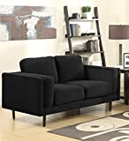 Sedex Neapel Sofa 2-Sitzer Couch Polstergarnitur Kunstleder - Schwarz