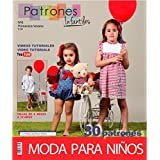"Revista patrones de costura infantil, nº 6. Moda Primavera-verano, 30 modelos de patrones con tutoriales en vídeo (youtube), "" niña, niño, bebé"" Sewing instructions in English."