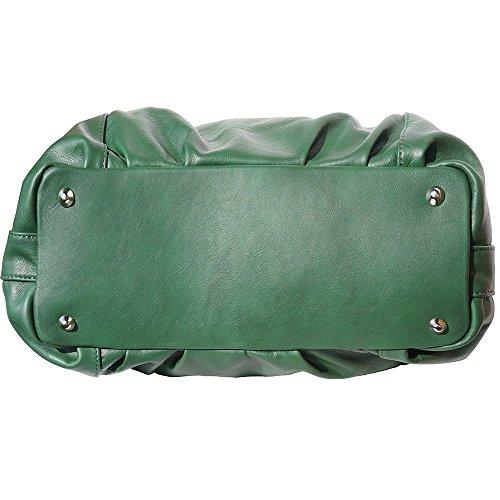 "Weich Calfskinleder ""Hobo"" BAG 3005 Denkel grün"