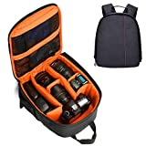Eulan Photography Little DSLR Camera Backpack, Waterproof Travel Photography Bag for Canon, Nikon, Sony and More Cameras, 9.8'''' x 5.9'''' x 13'''' (Orange)
