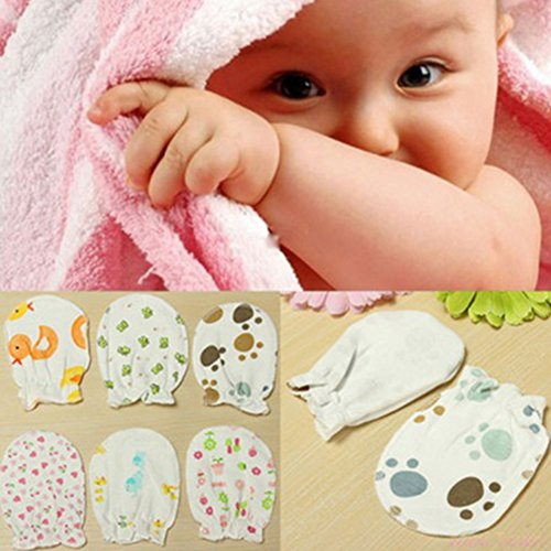 3 paires paires nouveau-né Centre, coton doux anti Scratch Moufles Gants,  gants 1323062039c