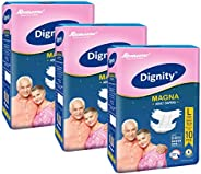 """Dignity Magna Adult Diapers, Large, Waist Size 38"""" - 54"""", 10 Pcs/Pack (Pack of"""