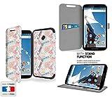 Makeup Trucco moda bellezza estetica Collection Pattern Custodia Pelle Ultra Slim per Google Nexus 6 smartphone con STAND - custodia a portafoglio protettiva Google Nexus 6 PU Pelle - CASE Industry accessori
