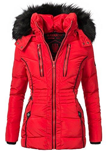 Navahoo Damen Jacke Winterjacke Steppjacke Esma (vegan hergestellt) Rot Gr. S