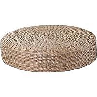 Hete-supply - Cojín Trenzado de Paja Tatami Rushwork Zafu para Tejer, Yoga, Meditación, Paja, 40 * 40 * 11cm, Redondo