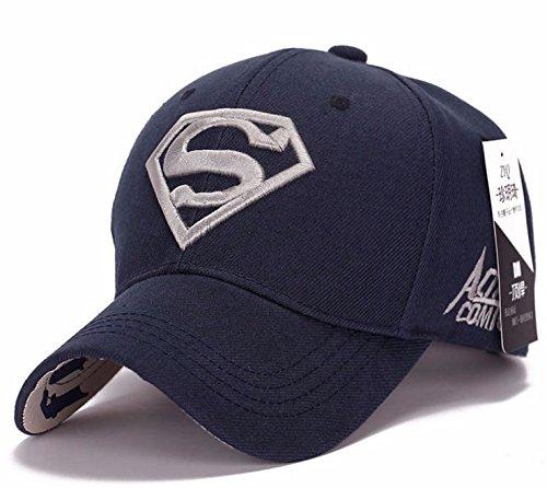 CASQUETTE SUPERMAN REGLABLE SPORT BASBALL BASKET BALL TENNIS GOLF (BLEU FONCE)