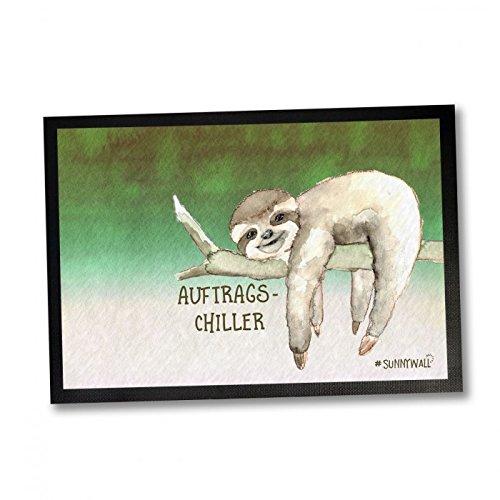 35 x 50 Fußmatte Faultier sloth – Auftrags Chiller Einweihungsgeschenk Geschenk für Einweihung Fußabtreter Türmatte