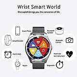 BZLine Bluetooth Smartwatch Fitness Uhr Intelligente Armbanduhr Fitness Tracker Smart Watch Sport Uhr mit Kamera Schrittzähler Schlaftracker Romte Capture Kompatibel mit Android Smartphone (Schwarz)