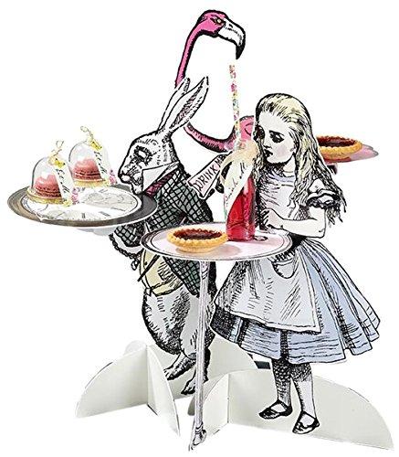 Alice in Wonderland; 40 cm hohe Figuren als Tischstände für Geburtstage oder Teekränzchen oder Verrückte Hutmacher-Party; Bunt (3 pro Pack) ()