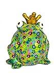 pomme-pidou XL-Frosch grün mit Blumen